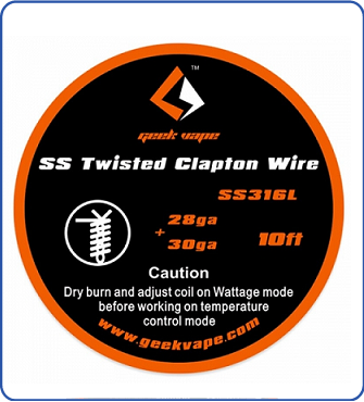 GeekVape Twisted Clapton SS316 Tape Wire (28GA*2/Twisted + 30GA)