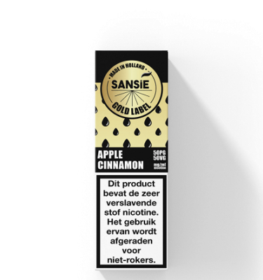 Sansie Gold label Apple Cinnamon
