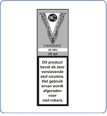 Vaprance Base label 100VG
