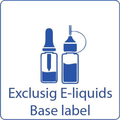 exclusig e-liquids base label