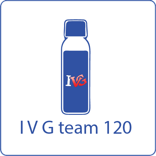 IVG team 120 shake n vape liquid