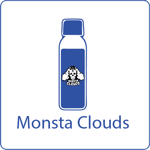 Monsta Clouds vape n shake eliquids
