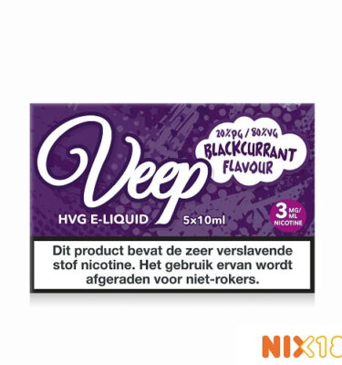 Veep Blackcurrant HVG E-Liquid 5 x 10ml