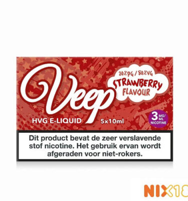 Veep Strawberry HVG E-Liquid 5 x 10ml
