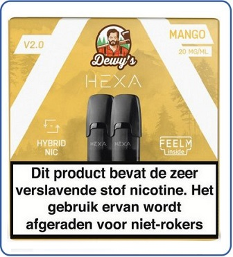HEXA 2.0 Pod 2ml Mango (2 pack)