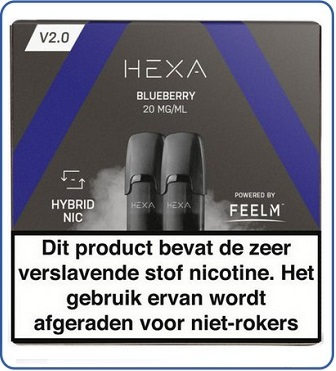 HEXA 2.0 Pod 2ml Blueberry (2 pack)