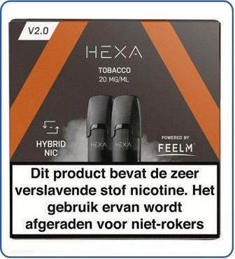 HEXA 2.0 Pod 2ml Tobacco (2 pack)