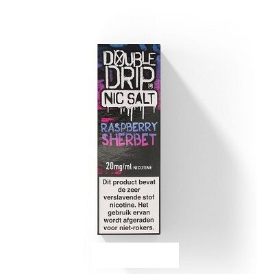 Double Drip NicSalts Raspberry Sherbet 10ml