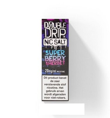 Double Drip NicSalts Super Berry Sherbet 10ml